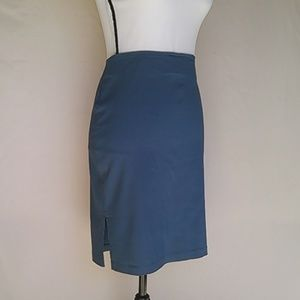 Vintage MyTina Blue Pencil Skirt